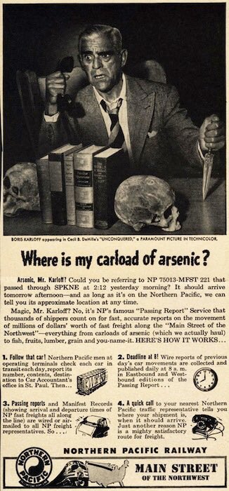 Lost track of your arsenic? Not sure how to explain this one... #BorisKarloff #FamousMonsters https://t.co/xwMqmw4PqB