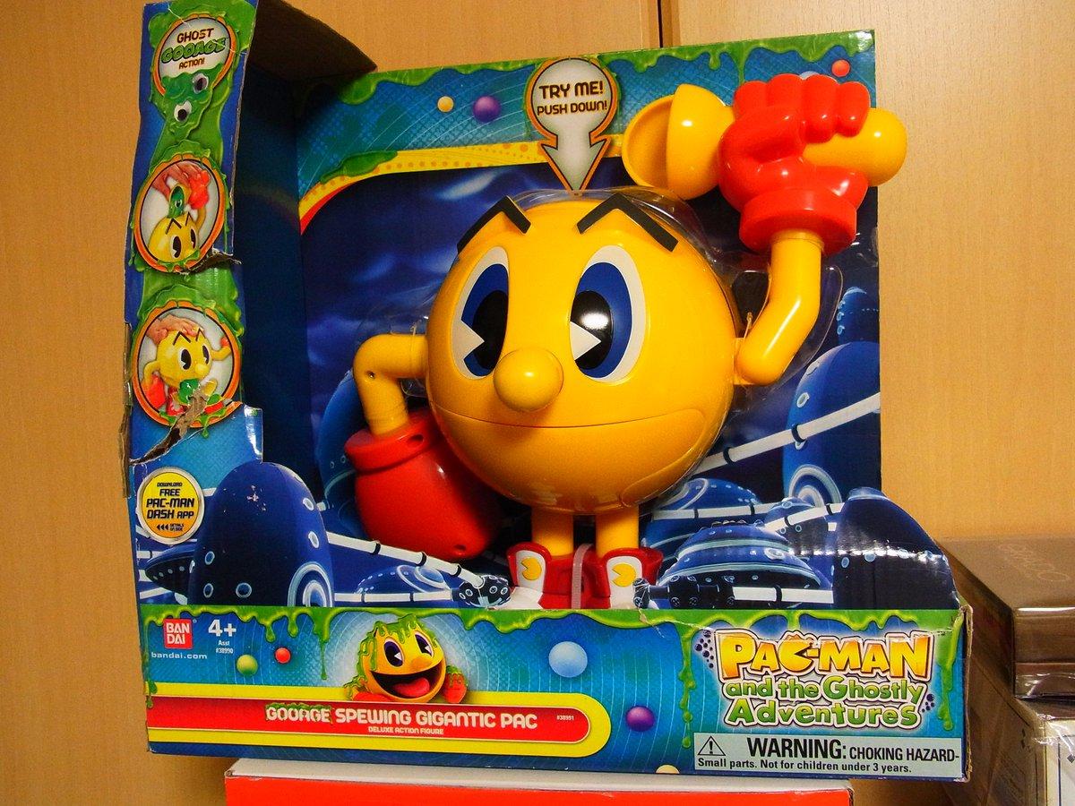 数年前にゲーム化、CGアニメ化した「パックワールド」放映時には、日本では発売されなかったこんなオモチャも出ていました。