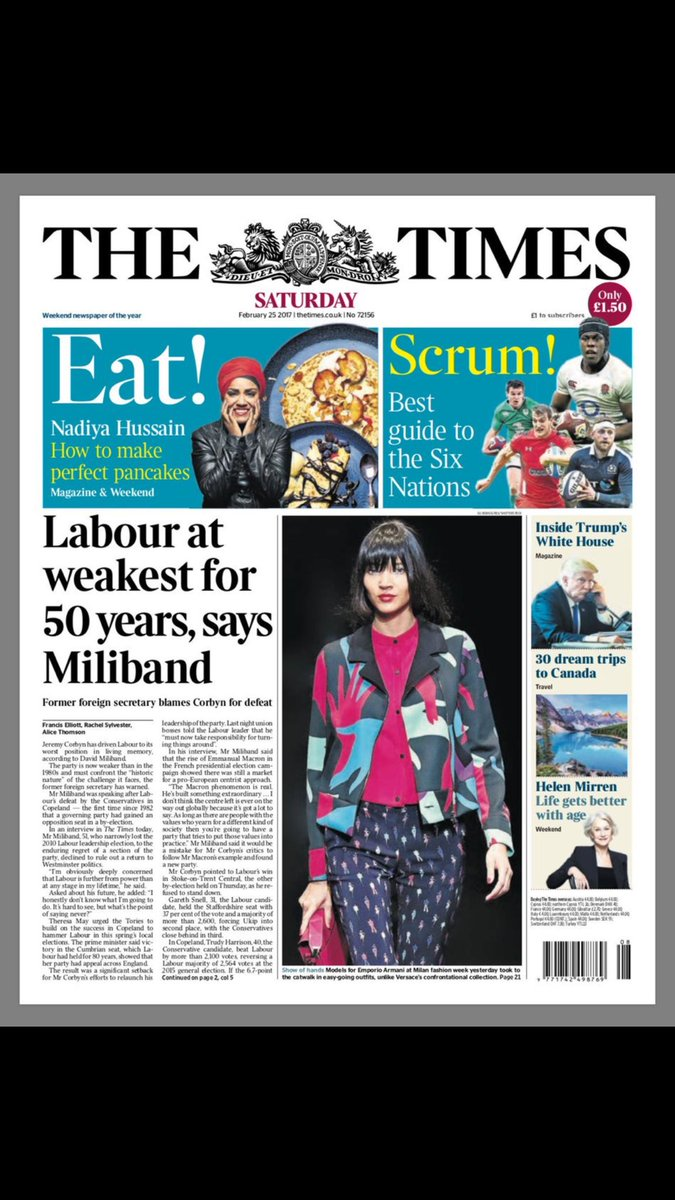RT @SamCoatesTimes: Tonight, ladies and gentleman, we give you David Miliband!!! https://t.co/AeagAgHxlk