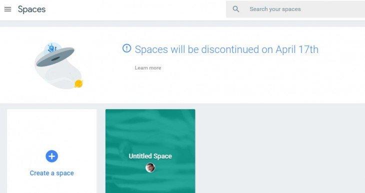Google cierra Spaces, su experimento de comunicación en grupo https://t.co/ibWDCIYdRu ...