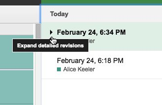 Revision history now has a tiny triangle to see detailed revisions #googleEDU https://t.co/giN6lsPQo9