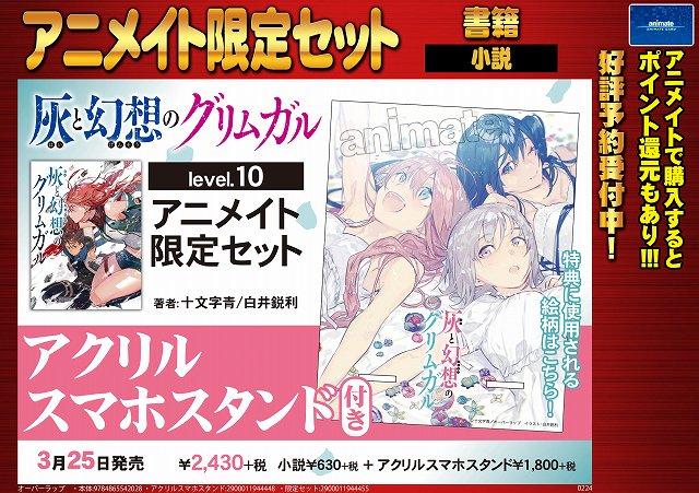 【書籍予約情報】3/25発売『灰と幻想のグリムガル level.10』アニメイト限定セットのご予約受付中!!有償特典は、