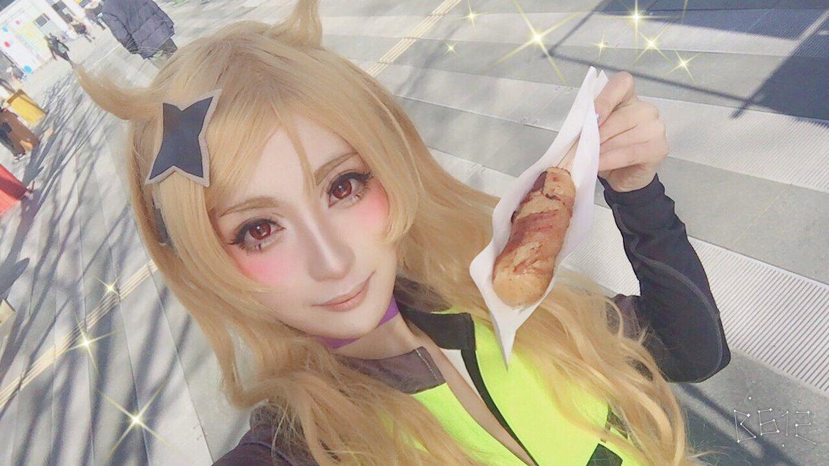 浦和の調ちゃんの子鹿ちゃんコスプレして #埼玉サイクルエキスポ います!肉巻きおにぎり買ったら限定の浦和の調ちゃんコース