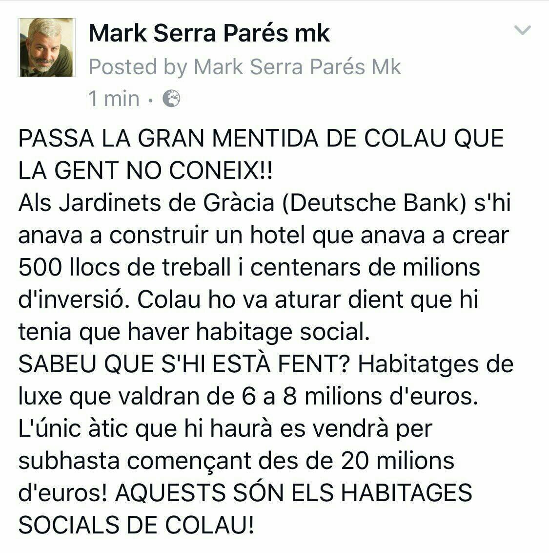 RT @Elvellblues: Els habitatges socials de #FrauColau #OléTú https://t.co/1UuL1jSl4O