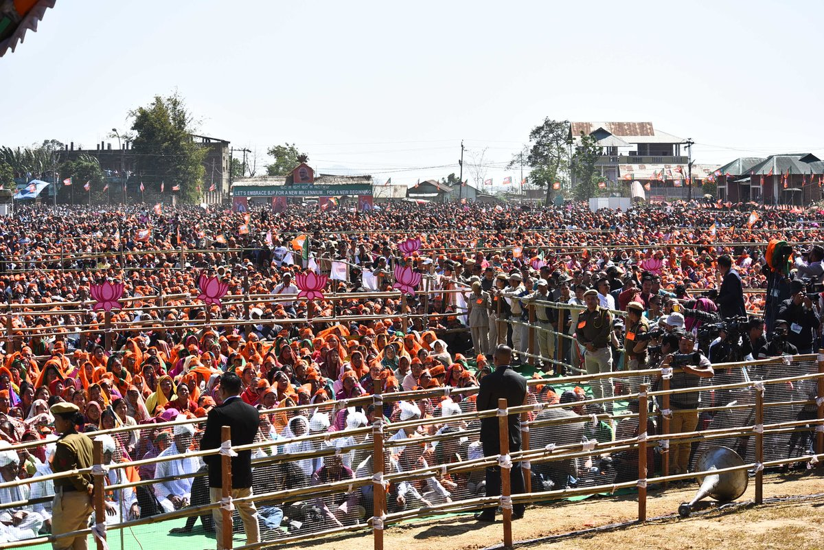 Delighted to campaign in Manipur. I will always cherish the warmth I received from the people of the state.