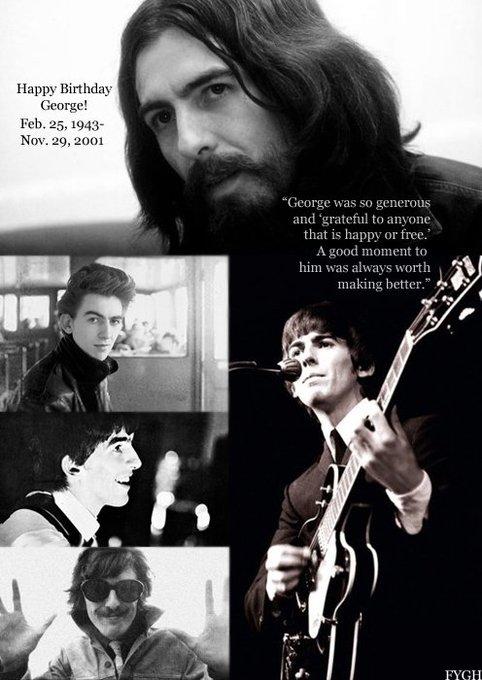 Happy Birthday George Harrison Play that guitar xxxx