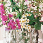 How to Make an Easy Centerpiece Using Milk Bottles, Flowers, and Twine