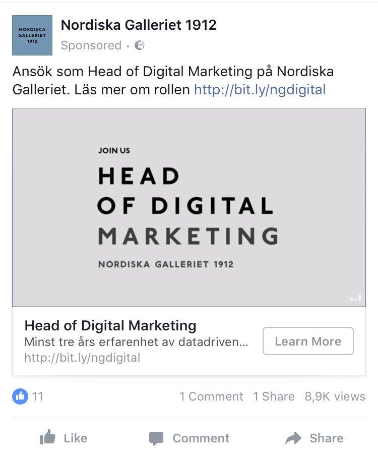 Kanske den bäst riktade annonsen jag fått hittills.