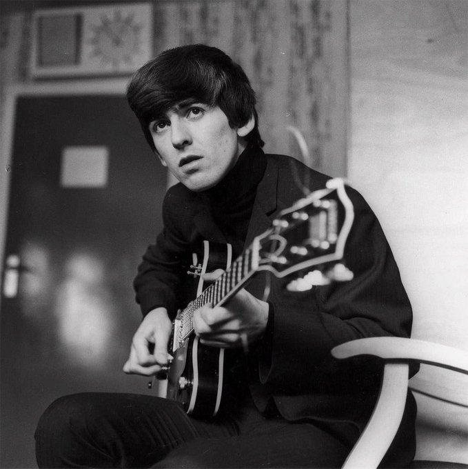 "Happy Birthday to Beatle George Harrison, born Feb 25! \""Something\"""