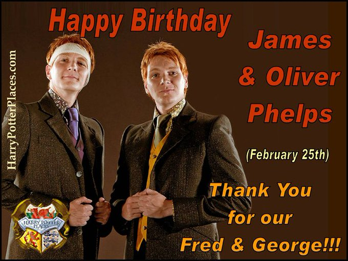 Happy Birthday to James & Oliver Phelps (aka Fred & George Weasley)