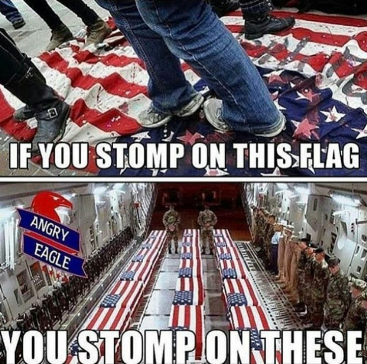 RT @Stevenwhirsch99: #ICantRespectAnyoneWho dares to stomp on the American flag, period. https://t.co/wwjVRmYdXh