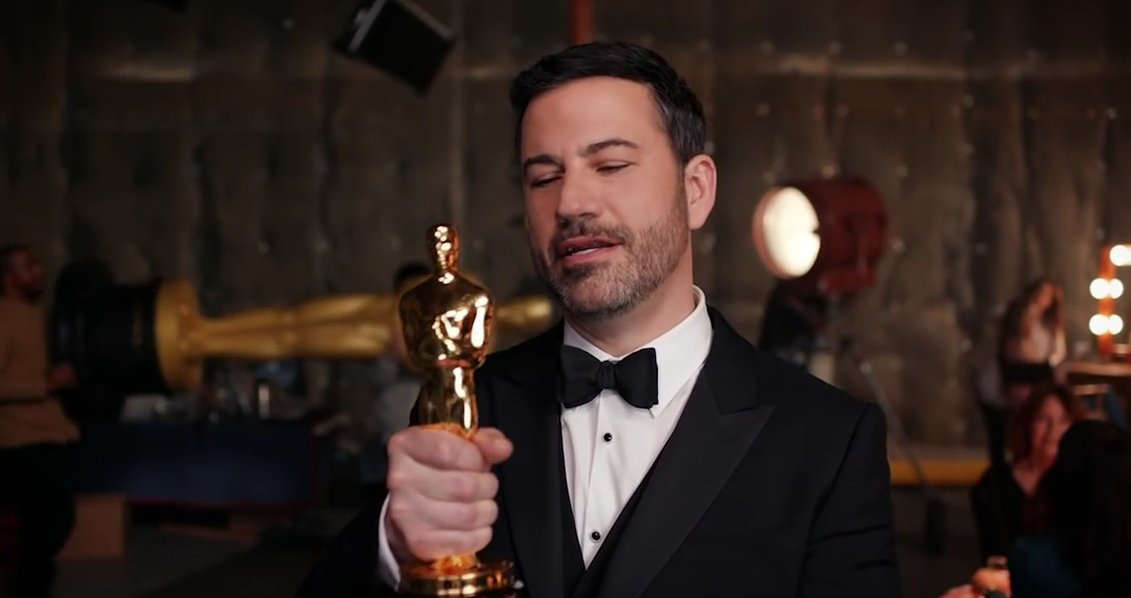 According to Jimmy Kimmel, winning big at the Oscars (on ABC) is easy as 1,2,3...4.
