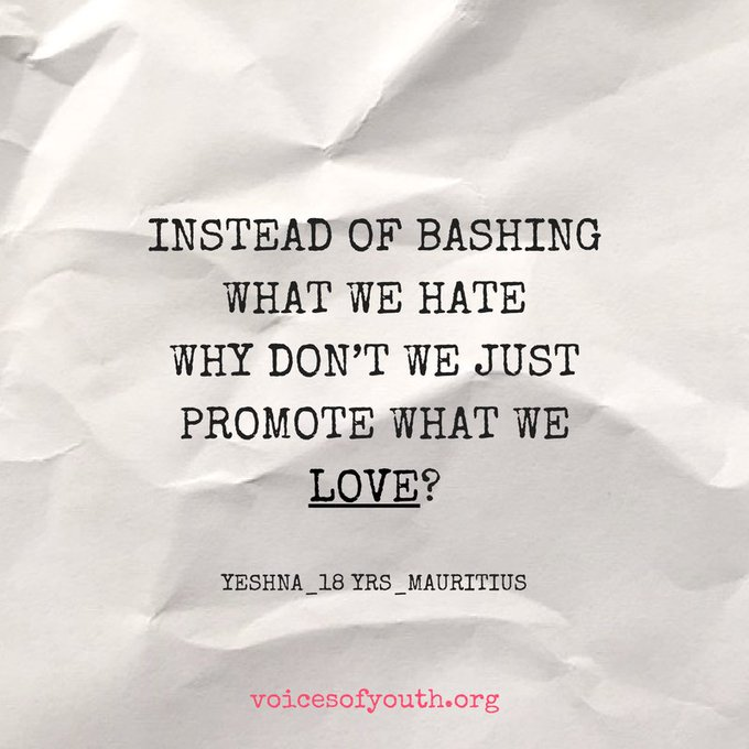What do you love?  Thanks @voicesofyouth