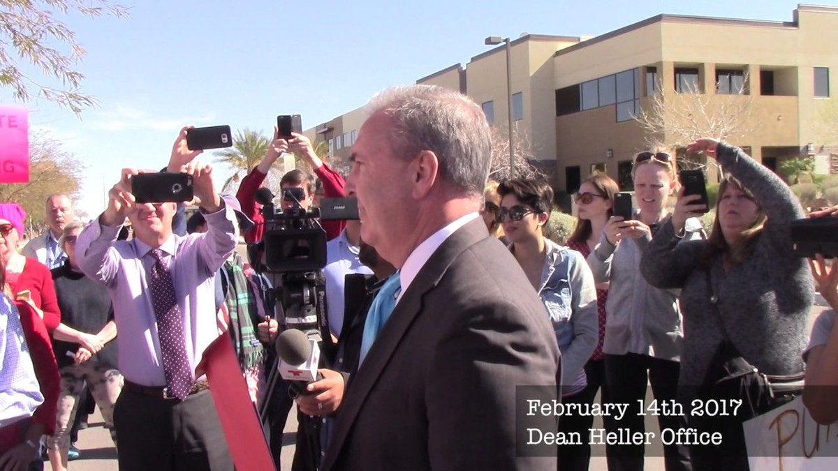 .@SenDeanHeller avoided constituents & staff said he wasn't invited to Vegas event, but  vid@lafirmanveo shows all: https://t.co/UBiqaXu1Hd