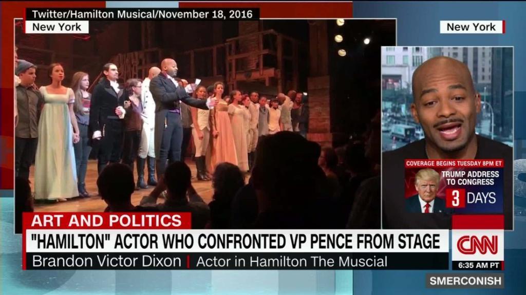 'Hamilton' actor Brandon Victor Dixon says he expects political speeches at Oscars