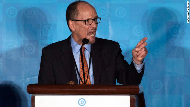 DNC elects former Labor Secretary Tom Perez as its new chairman over Minn. Rep. Keith Ellison in a 235-200 vote. https://t.co/J1BJ9BpJMG