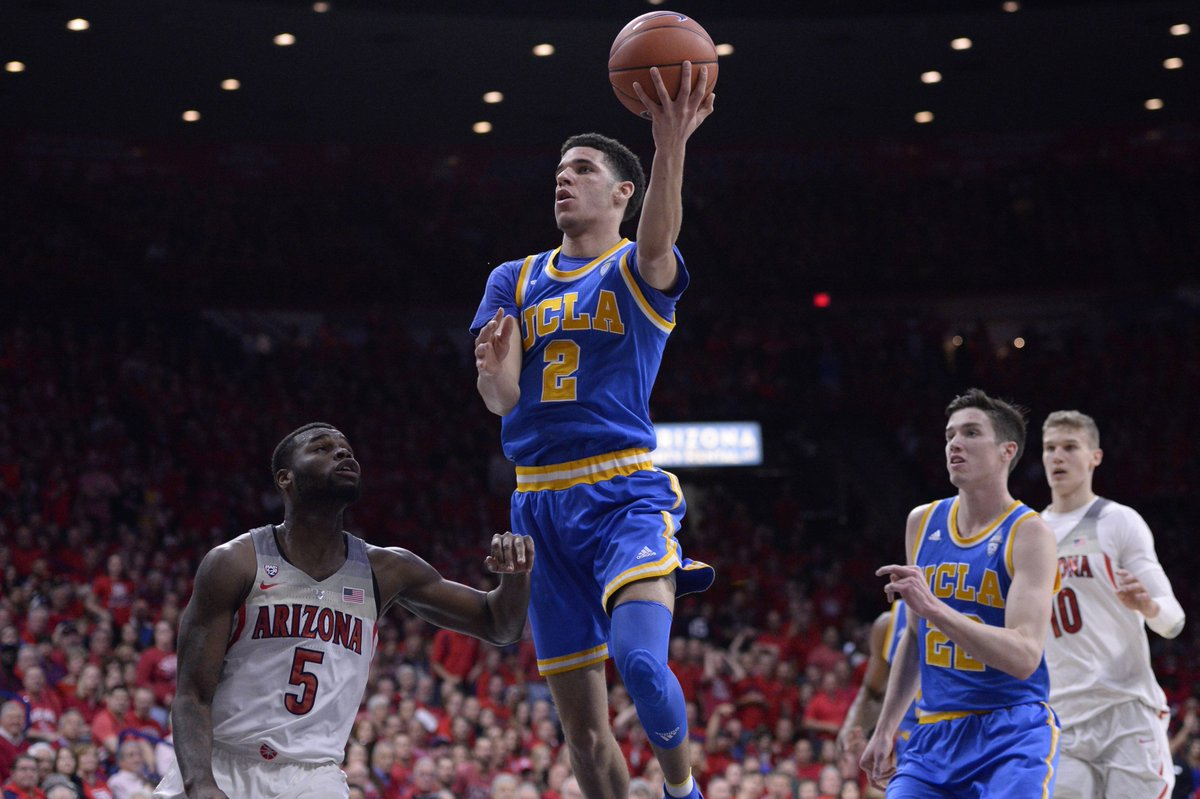 Bruins steal one on the road!No. 5 UCLA defeats No. 4 Arizona, 77-72