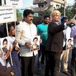 CPI(M) mourns Srinivas, stages protest against Trump