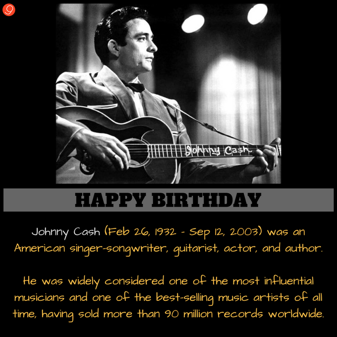 Remembering the legend! Happy Birthday Johnny Cash :)