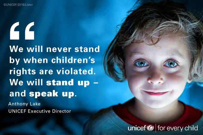 Stand up. Speak up. #foreverychild