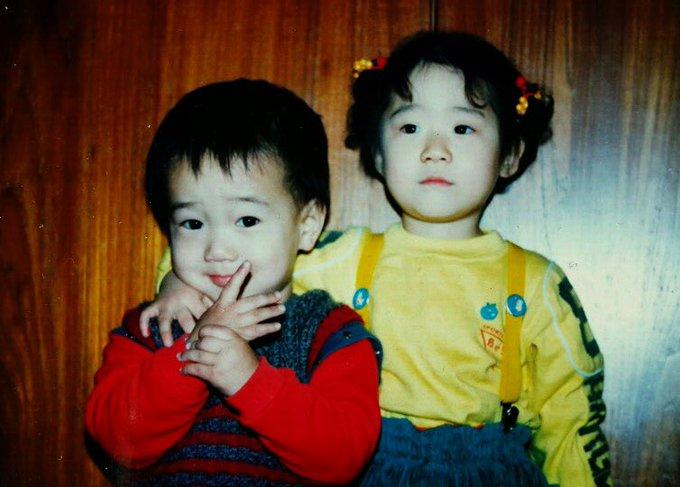 예송이 3살때 친척누나랑 ~ ✌🏻 #애송