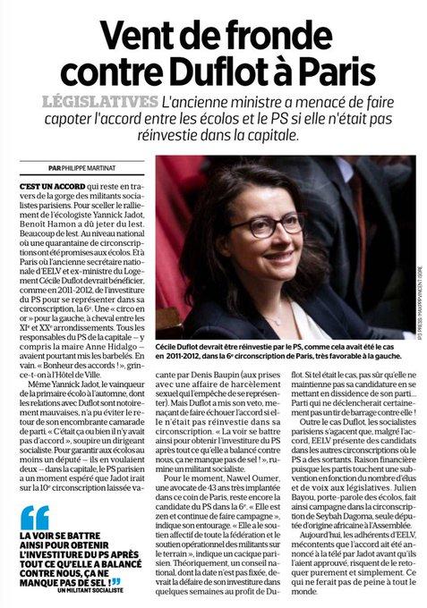 L'engagement politique désintéressé de Cécile Duflot.