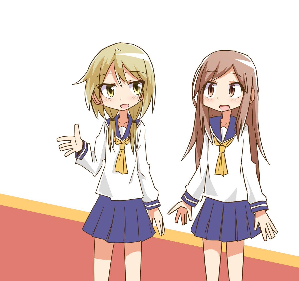 ゆゆ式アニメ全話見ました。唯と相川さんが話してるところが好きです。