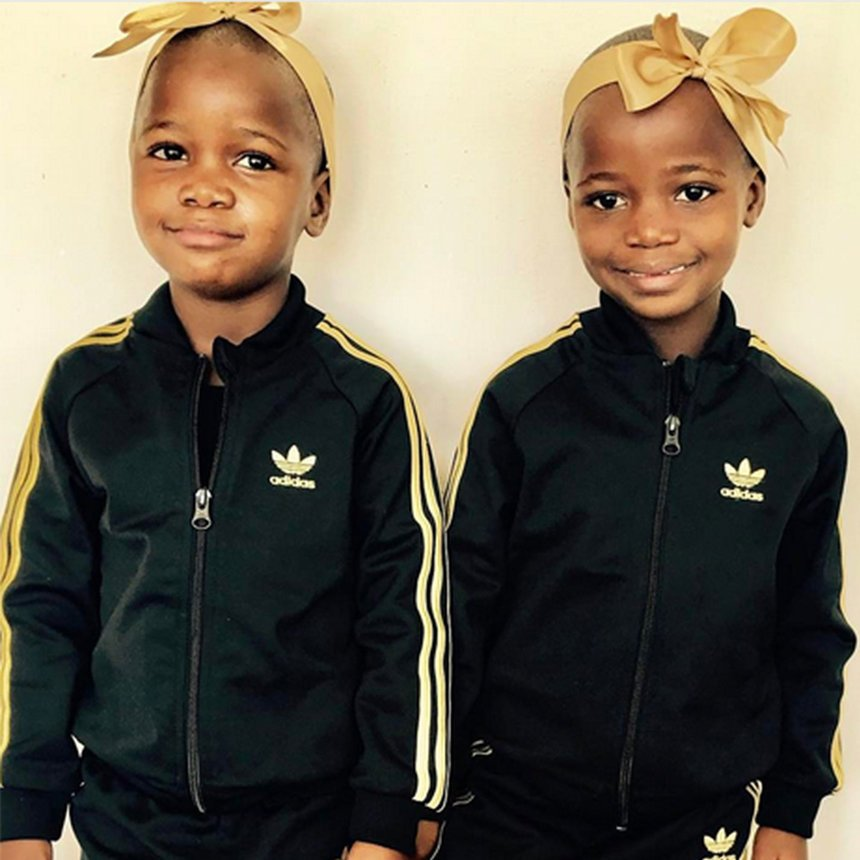 Madonna shares the cutest photo of her twin daughters in matching tracksuits: https://t.co/lZmwp7pdnB