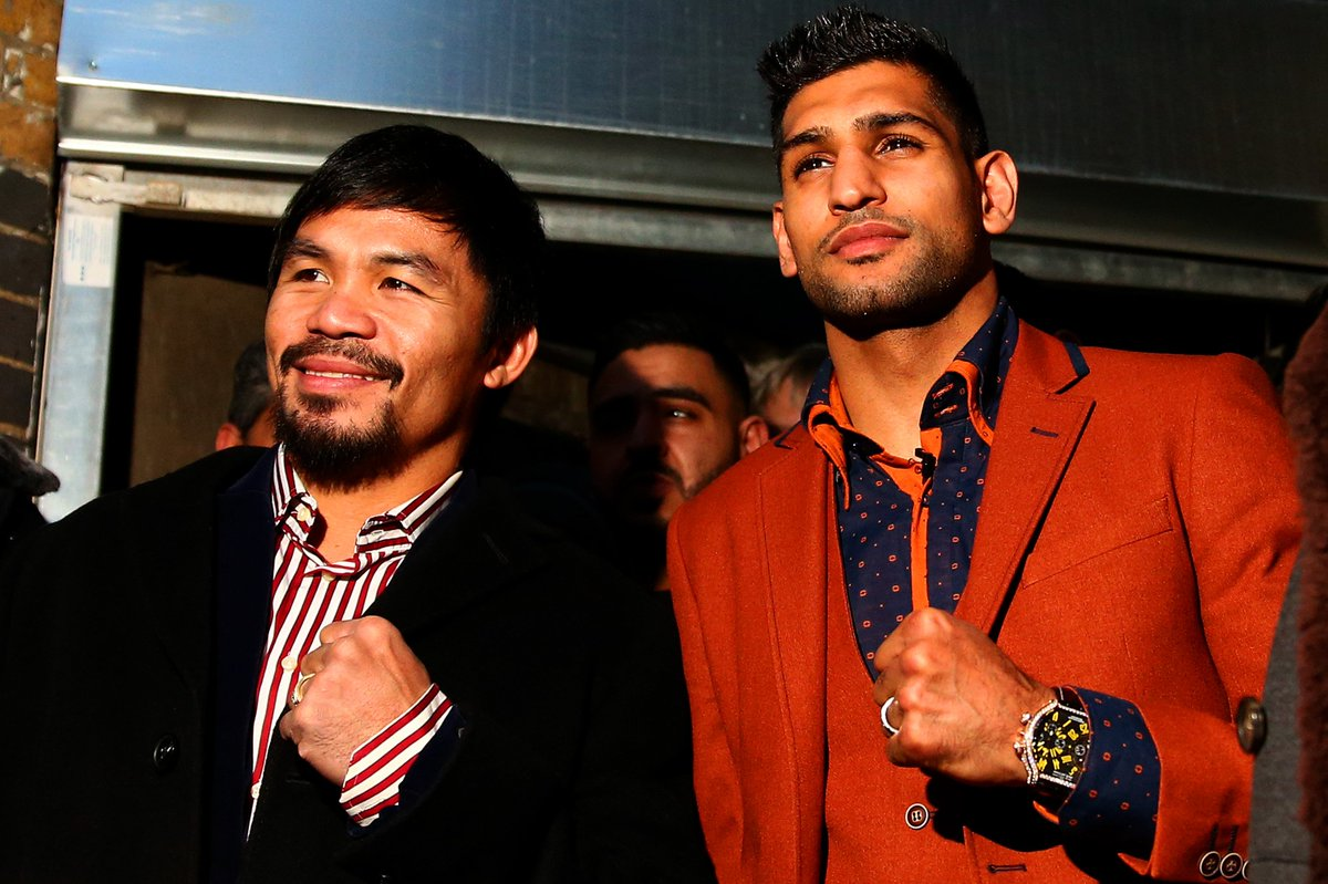Return to the ring?Manny Pacquiao tweets that he will fight Amir Khan on April 23