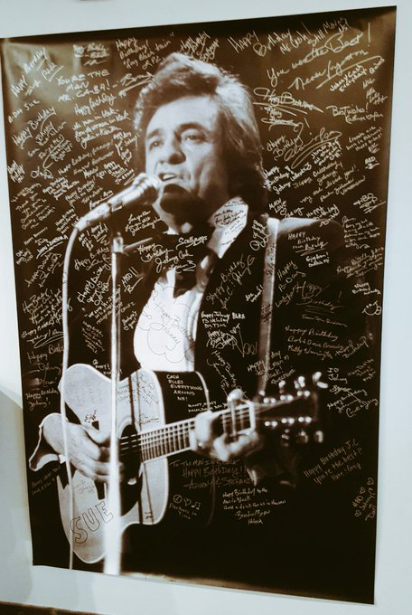 Happy 85th Birthday to my hero, the man in black, Mr. Johnny Cash.  Cheers to you and June in Heaven.