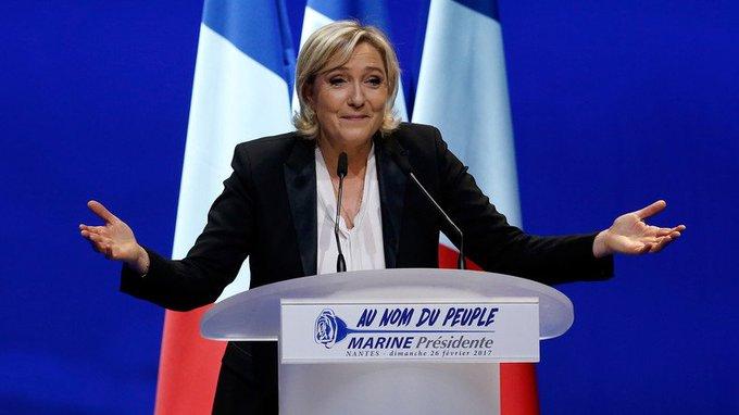 A #Nantes, #MarineLePen charge le candidat de l'«argent» #Macron et le «gouvernement des juges» https://t.co/W4PrGyKXh3