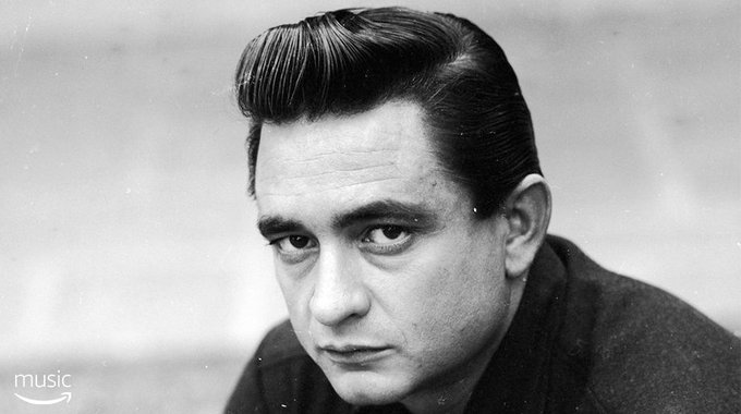 AmazonMusic Happy birthday to the man in black, Johnny Cash