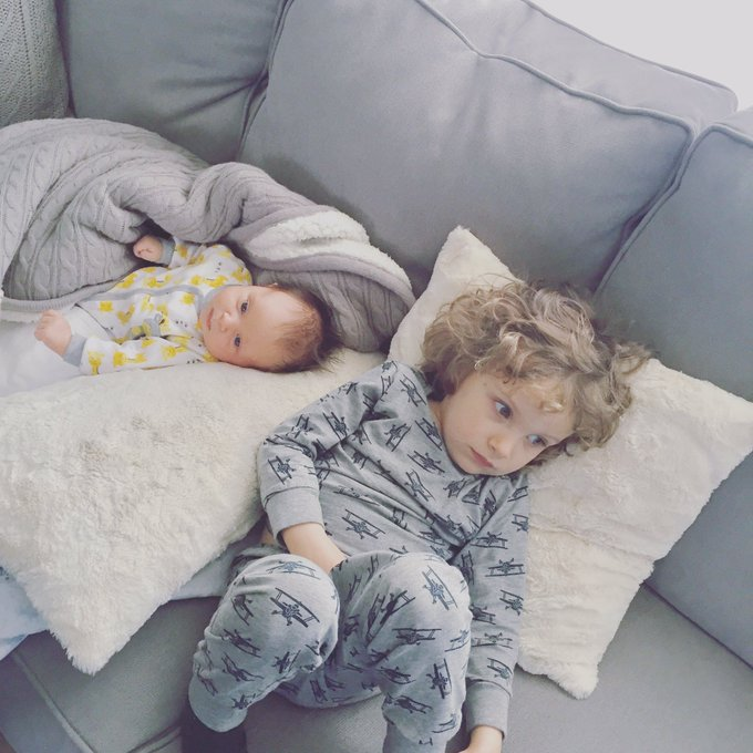 @trishstratuscom: Sunday vibes at Nana's #pajamaday #happysunday #maxstratus #madisonpatricia #siblinghangs https://t.co/kBmi5M6bEV