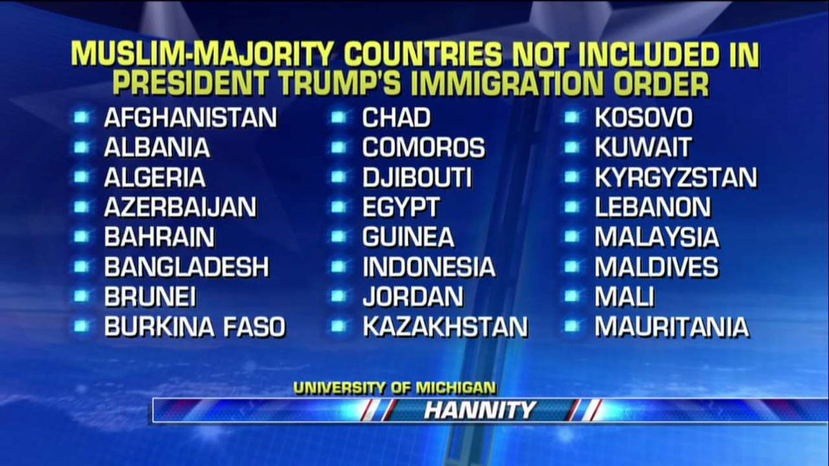 Muslim-majority countries not included in @POTUS's immigration order.