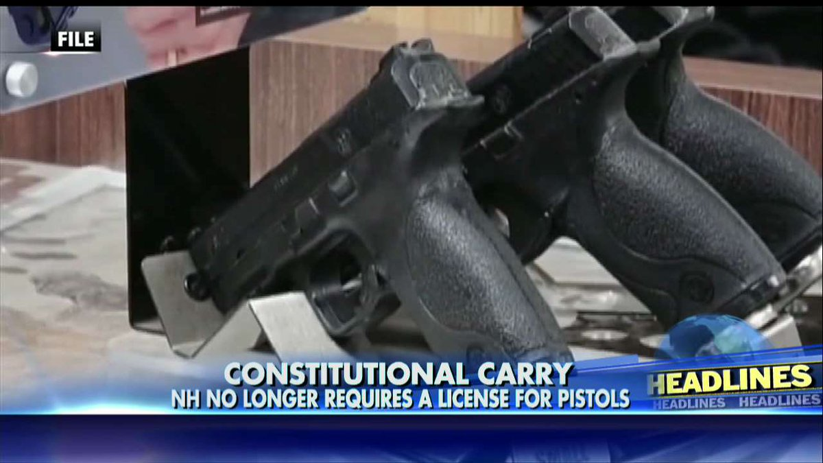 Constitutional carry - NH no longer requires a license for pistols. https://t.co/Lgj8VqLBT4