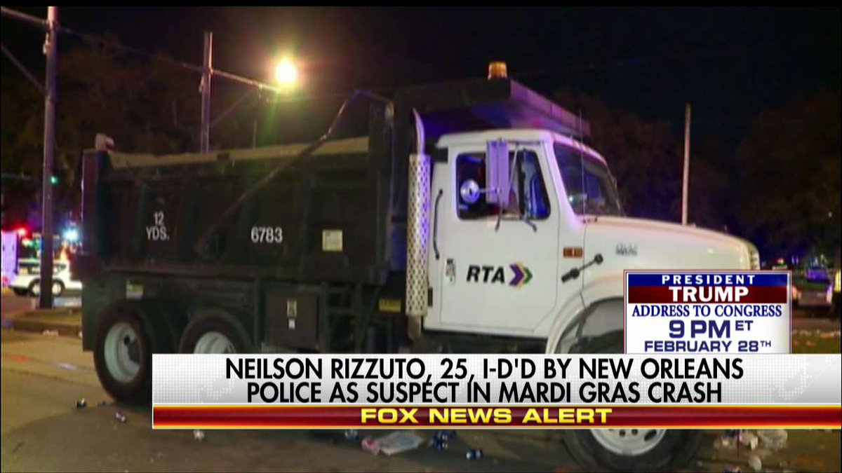 Neilson Rizzuto, 25, identified by New Orleans Police as suspect in Mardi Gras crash. https://t.co/dbIZxGlYw3