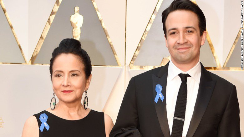 This year's hottest Oscars accessory of many top stars on the red carpet: an @ACLU ribbon
