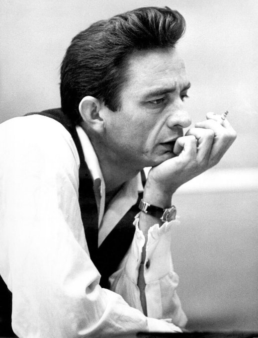 Happy birthday to the man in black, Johnny Cash