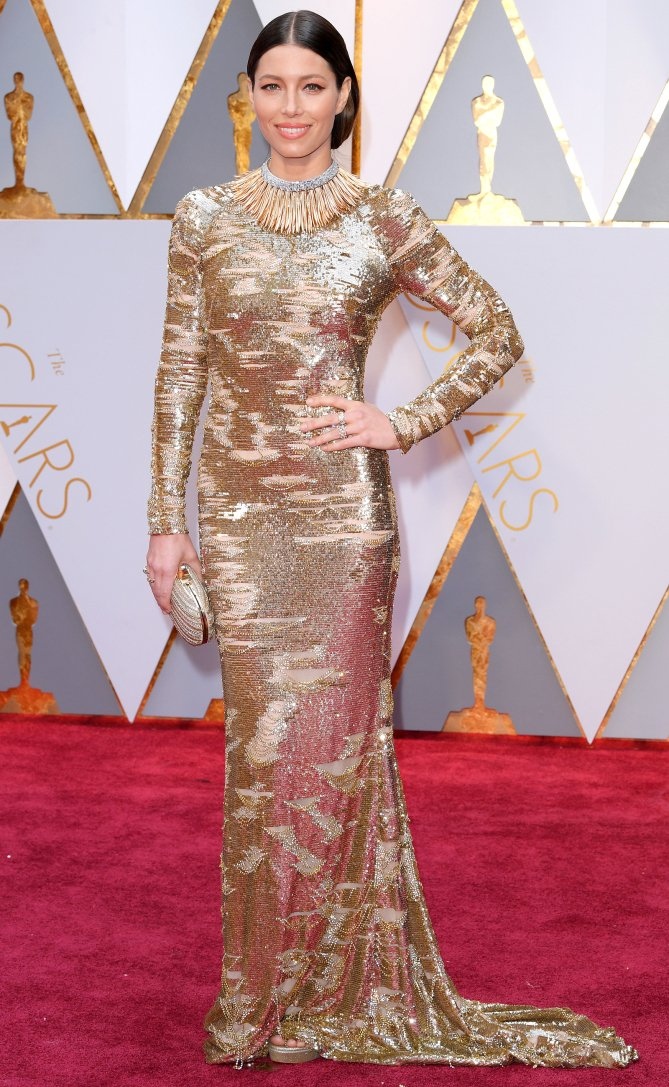 SLAY, Jessica Biel! ? Don't miss any of the Oscars arrivals