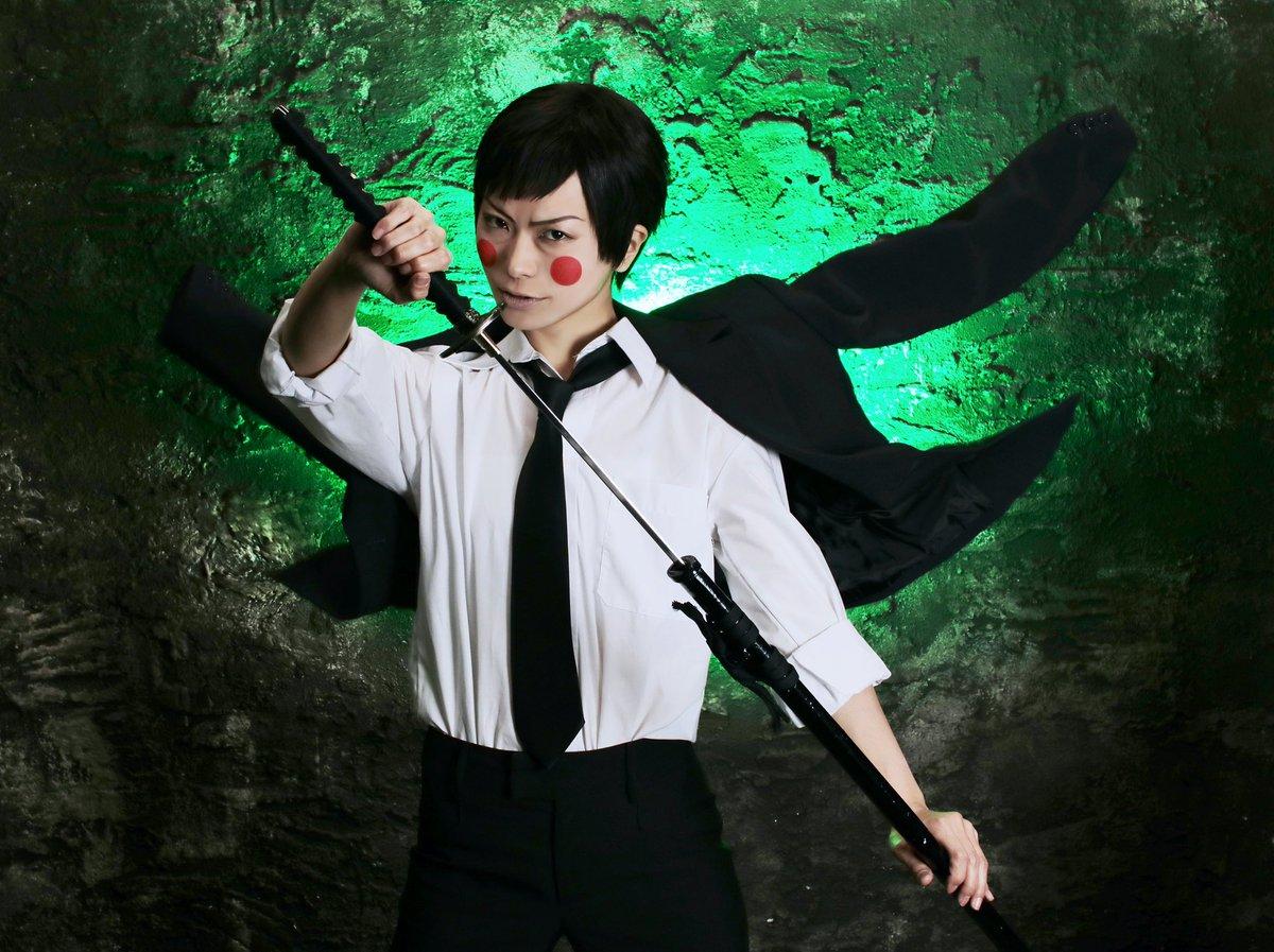 【cosplay】モブサイコ100守衛エクボ※コス捏造シュチュ注意エクボ×日本刀『俺様がぶった切ってやんぜ』photo