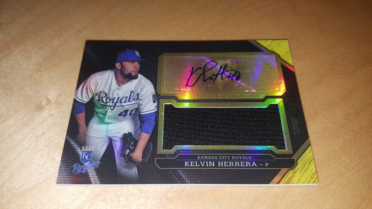 .@MLBNetwork's #30Clubs30Days hit @Royals camp.RT to win this fresh @KelvinHerrera40 card.