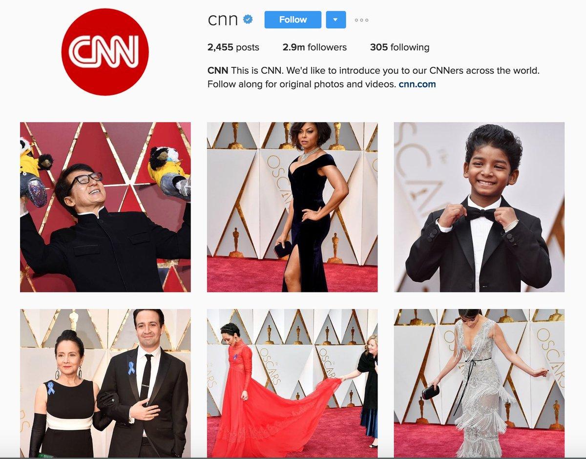 Follow the big Oscars moments tonight on @CNN's Instagram:
