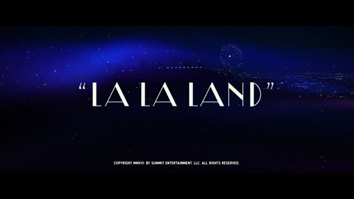 #LaLaLand wins Best Original Score and Original Song for City of Stars! #Oscars