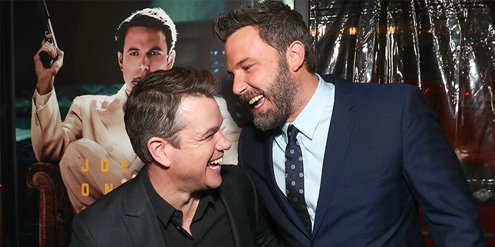 Ben Affleck and Matt Damon reunite onstage at the Oscars, 20 years after Good Will Hunting