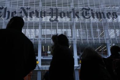 The New York Times launched a campaign for truth in the middle of the Oscars