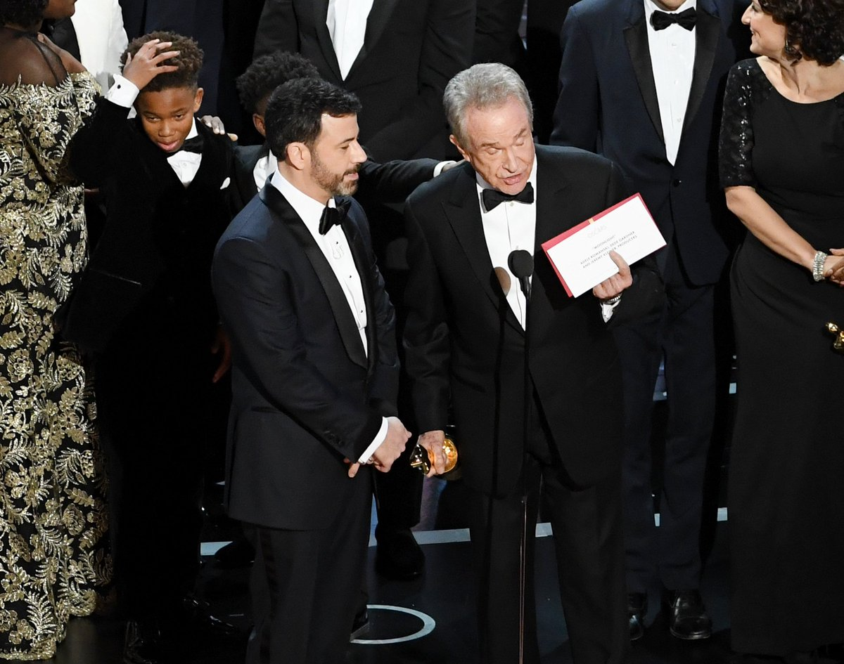 Oscars mishap Moonlight wins best picture after La La Land incorrectly announced
