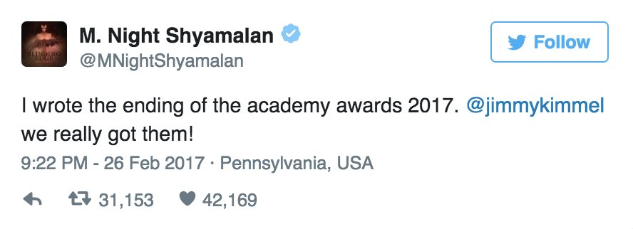 Hollywood reacts to the #Oscars Best Picture mix-up