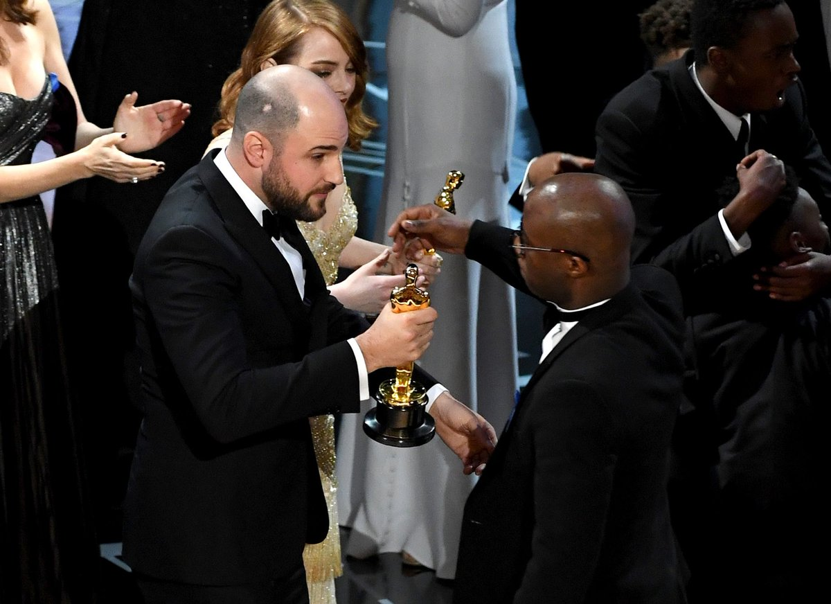 From 'u up?' to cock-up: all the Oscars highlights – in pictures
