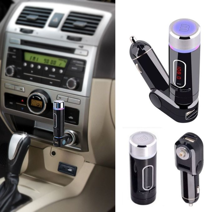 #free #music #win #style #follow #giveaway #mp3 Bluetooth Car Kit FM Transmitter Handsfree MP3 Player Charger for iPhone samsung #rt
