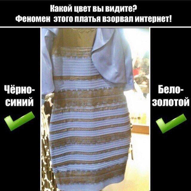 Синее платье и приколы